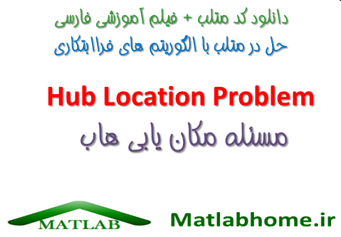 Hub Location Problem Matlab Algorithm Videos Code